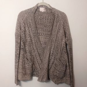 Skies Are Blue | Brown Knit Cardigan Sweater - S